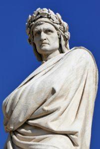 ダンテ・アリギエーリの像