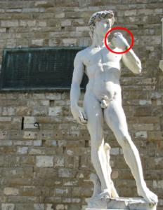 ダビデ像と投石