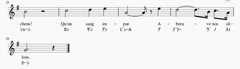 フランス国歌楽譜3
