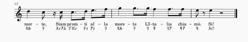 イタリア国歌楽譜3